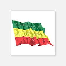 Ethiopia Flag (Distressed) Sticker