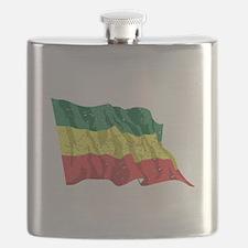 Ethiopia Flag (Distressed) Flask