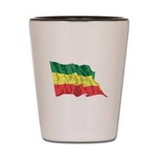 Ethiopia Flag (Distressed) Shot Glass