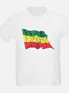 Ethiopia Flag (Distressed) T-Shirt