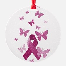 Pink Awareness Ribbon Ornament