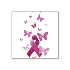 Pink Awareness Ribbon Sticker