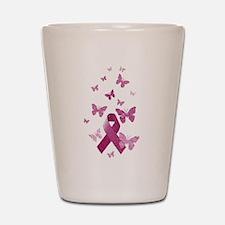 Pink Awareness Ribbon Shot Glass