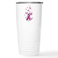 Pink Awareness Ribbon Travel Mug