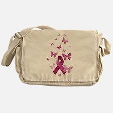 Pink Awareness Ribbon Messenger Bag