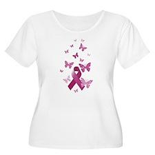 Pink Awareness Ribbon Plus Size T-Shirt
