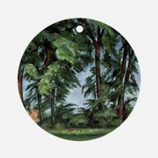 Cezanne - Tall Trees at the Jas de  Round Ornament