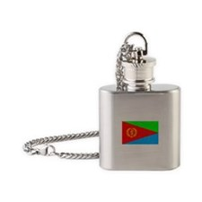 Eritrea Flag (Distressed) Flask Necklace