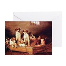 FOXHOUNDS & TERRIER Greeting Card