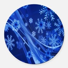 Cool December holidays Round Car Magnet