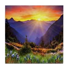 Country Sunrise Tile Coaster