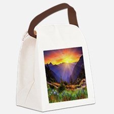 Country Sunrise Canvas Lunch Bag