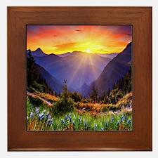 Country Sunrise Framed Tile