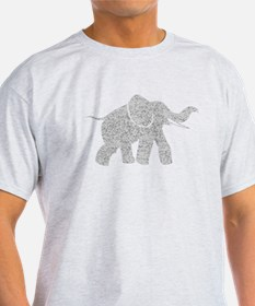 Distressed Grey Baby Elephant T-Shirt