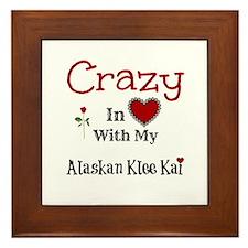 Alaskan Klee Kai Framed Tile