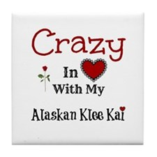 Alaskan Klee Kai Tile Coaster