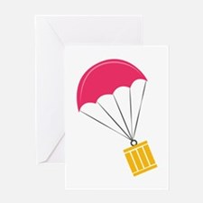 Parachute Package Greeting Cards
