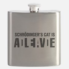 Schrodinger's cat is dead / alive. Flask