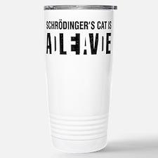 Schrodinger's cat is dead / alive. Travel Mug