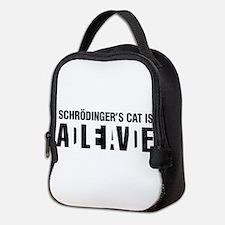 Schrodinger's cat is dead / alive. Neoprene Lunch
