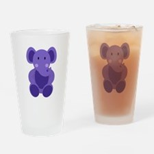 Baby Stuffed Purple Elephant Drinking Glass