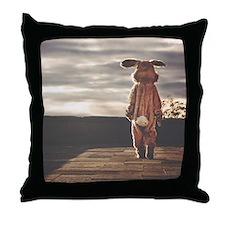 grunge bunny Throw Pillow