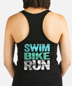 Cute Swim bike run Racerback Tank Top
