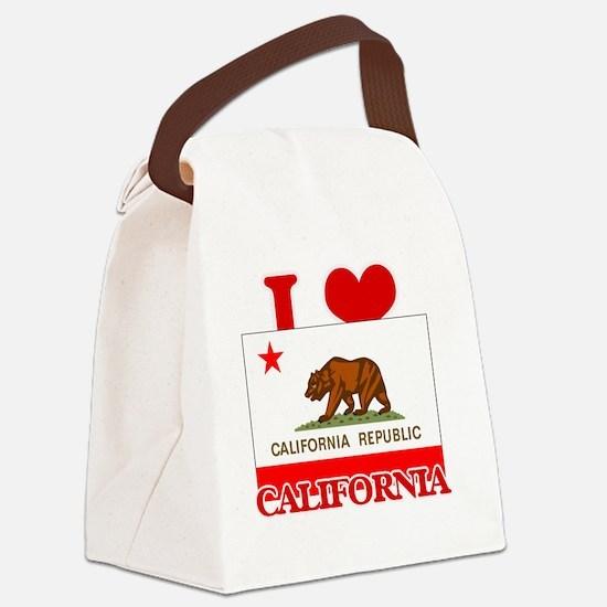 I Love California Canvas Lunch Bag