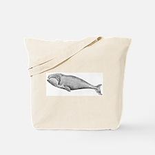 Whale Vintage Image Tote Bag