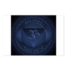 Mandala for Brow Chakra Postcards (Package of 8)