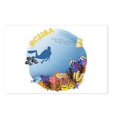 SCUBA Reef Postcards (Package of 8)