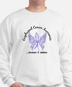 Esophageal Cancer Butterfly 6.1 Sweatshirt