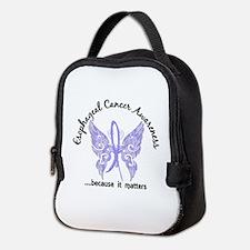 Esophageal Cancer Butterfly 6.1 Neoprene Lunch Bag