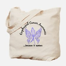 Esophageal Cancer Butterfly 6.1 Tote Bag