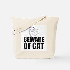 Beware of Cat Tote Bag