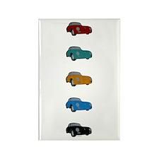 5 Porsches Magnets