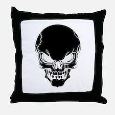 Black Skull Design Throw Pillow