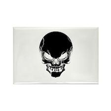 Black Skull Design Magnets