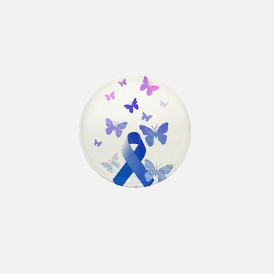 Blue Awareness Ribbon Mini Button (10 pack)