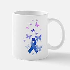 Blue Awareness Ribbon Mugs