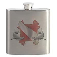 SCUBA Hammerheads Flask