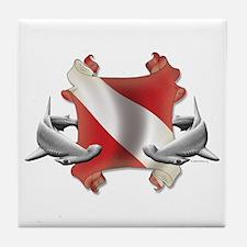 SCUBA Hammerheads Tile Coaster