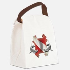 SCUBA Hammerheads Canvas Lunch Bag