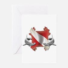SCUBA Hammerheads Greeting Cards (Pk of 10)