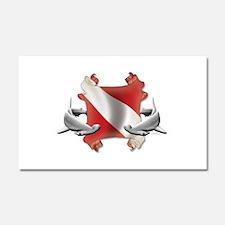 SCUBA Hammerheads Car Magnet 20 x 12