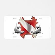 SCUBA Hammerheads Aluminum License Plate