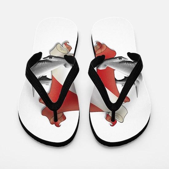 SCUBA Hammerheads Flip Flops