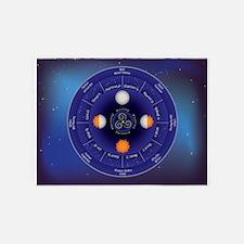 Zodiac Wheel of the Year 5'x7'Area Rug