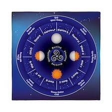 Zodiac Wheel of the Year Queen Duvet