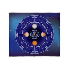 Zodiac Wheel of the Year Throw Blanket